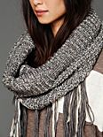 Loop Knit Fringe Scarf