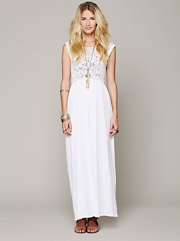 Isobel Crochet Maxi Dress