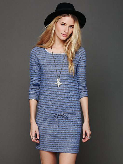 Dutch Stripe Terry Dress in sale-sale-under-70