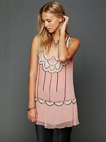 Free People Sleeveless Embellished Molly Tunic