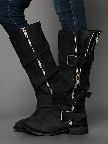 Marlo Zip Buckle Boot