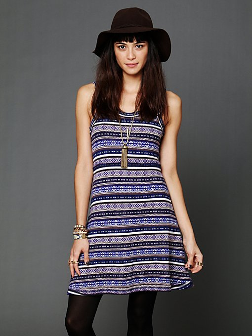 Fairisle Fit and Flare Dress