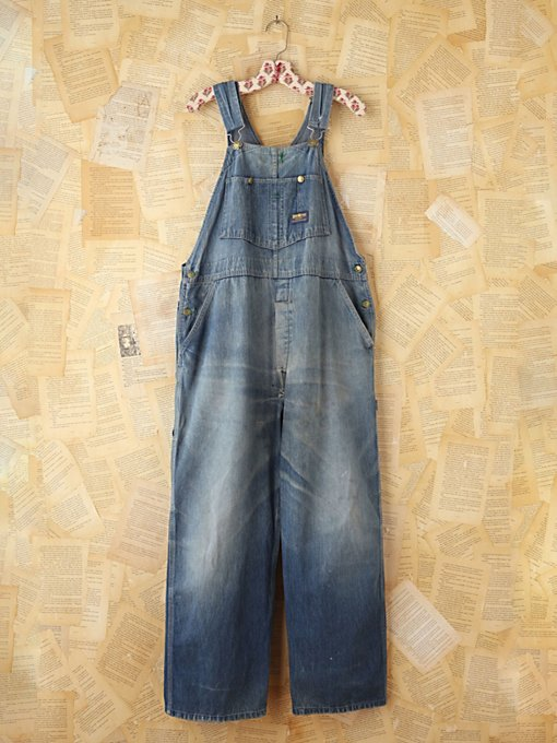 Free People Vintage Osh Kosh Denim Overalls in vintage-jeans