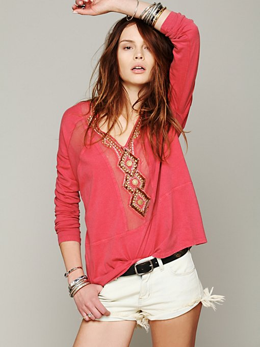 Free People Focus on Center Top in tunic-sweaters