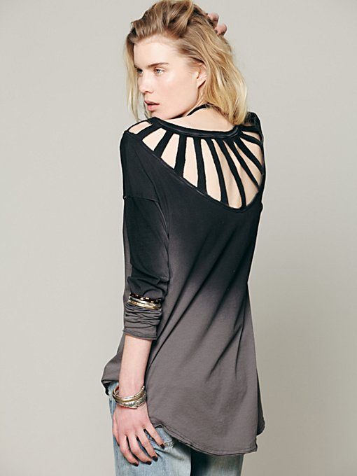 Free People We The Free Sunburst Long Sleeve Top in knit-tops