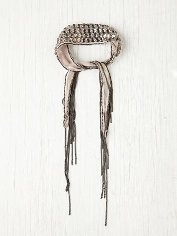 Beaded Metal Fringe Bracelet