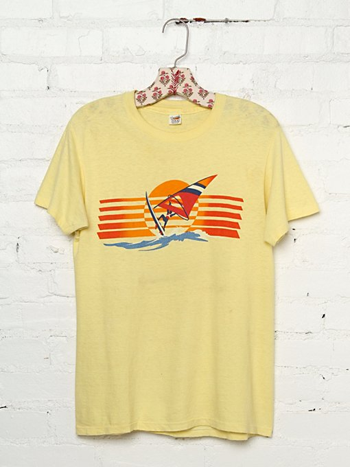 Vintage Wind Surfing Graphic Tee in vintage-loves-clothes