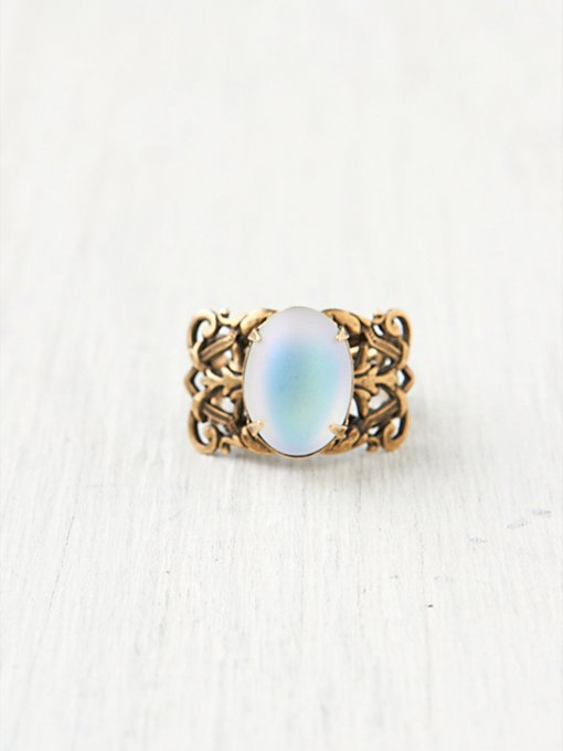 Ornate Moonstone Ring
