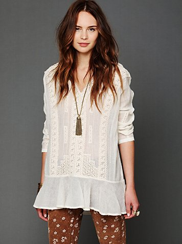 Free People FP New Romantics Trailing Stars Flounce Tunic