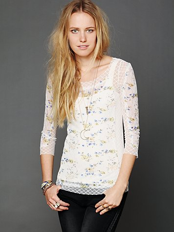 Pieced Lace Layering Top