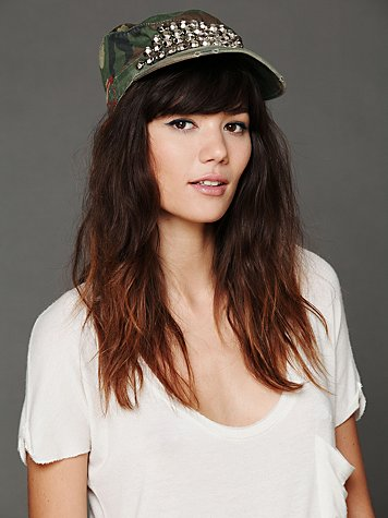 Free People Embellished Military Cap