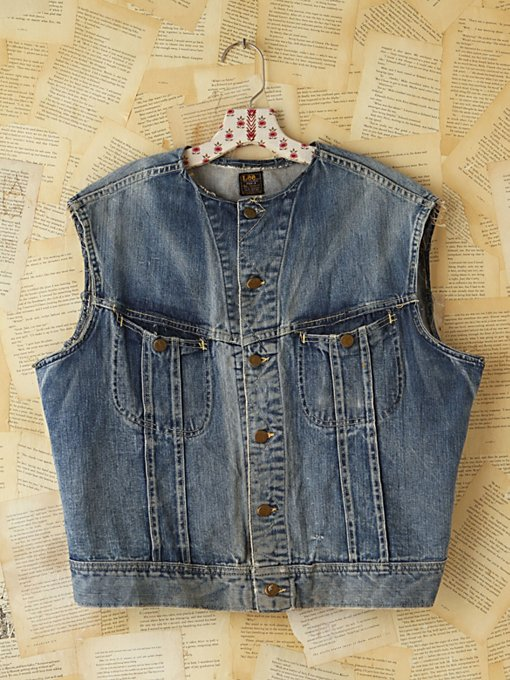 Free People Vintage Lee Denim Vest in vintage-jeans