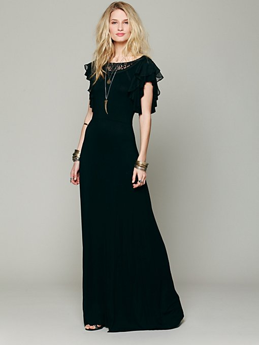 Free People FP X Film Noir Dress in black-maxi-dresses