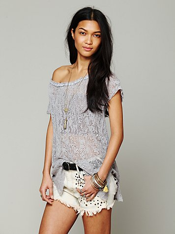 Free People Peasant Pointelle Pullover