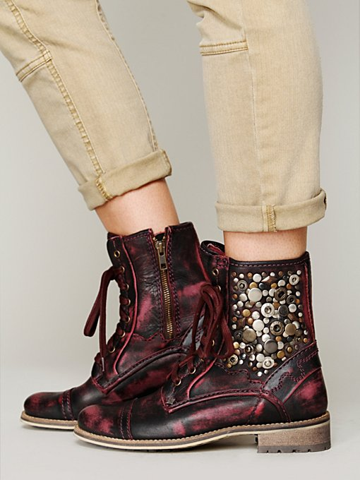 Feud Kadence Military Boot in Studded-Boots