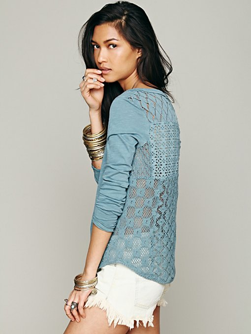 Patches Of Lace Henley in knit-tops