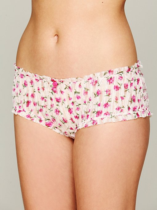 Intimately  Free People Printed Lace Bloomer in lace-underwear