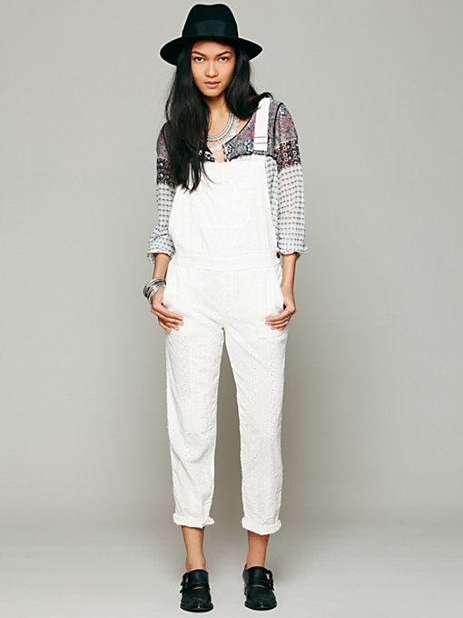 Straight Eyelet Overall in clothes-pants