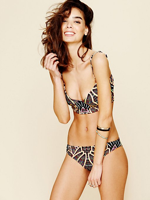 Mara Hoffman Printed Classic Bottom in swimwear