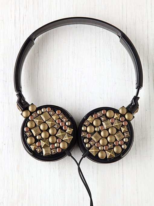 Large Studded Earphones in sale-sale-under-70