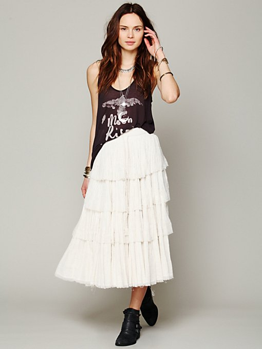 Mes Demoiselles Paris Amy Tiered Skirt in white-maxi-dresses