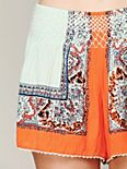 Color Between Borders Smocked Skort