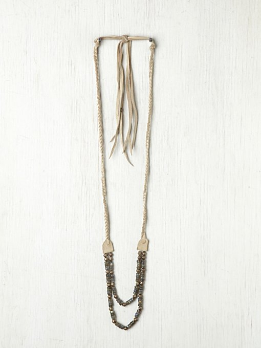 Heyoka Leather Leather Braided Rodeo Necklace in beach-jewelry