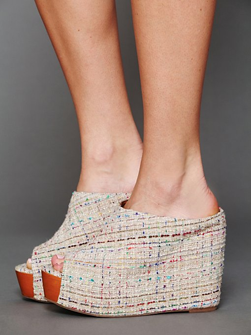 Jeffrey Campbell Amanda Mule Wedge in Evening-Shoes