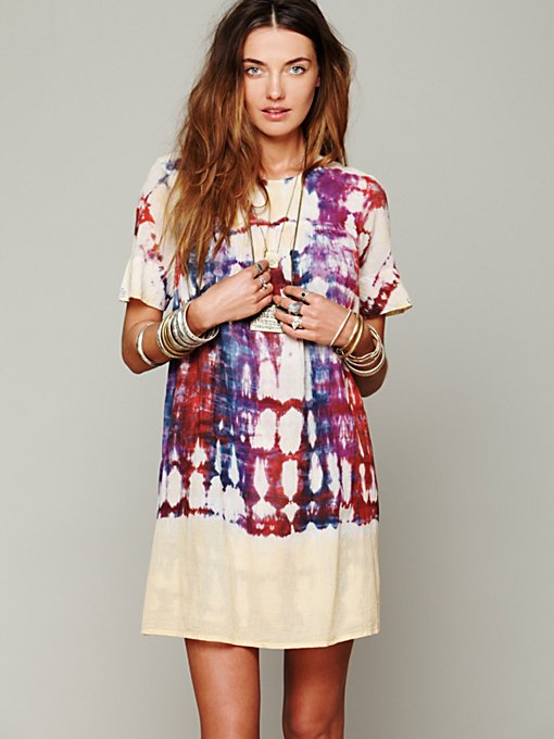 Antik Batik  Artus Tie Dye Shapeless Dress in Shift-Dresses