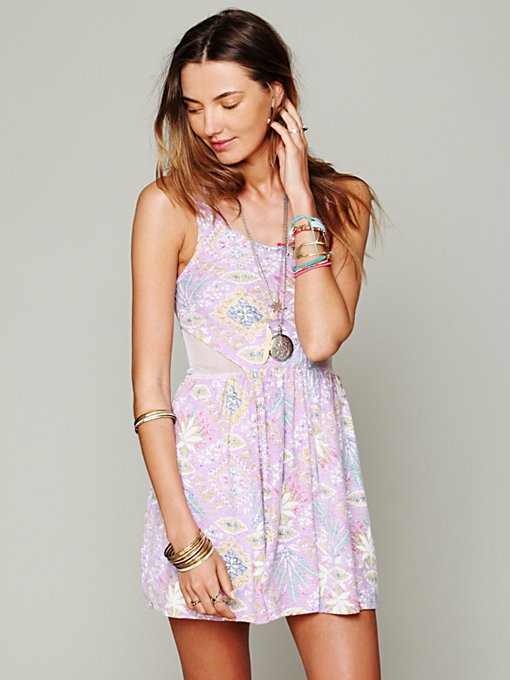 Tallow for Free People  Pieced Mesh Dress in Mini-Dresses