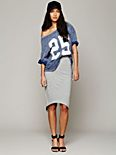 Overlapped Pencil Skirt
