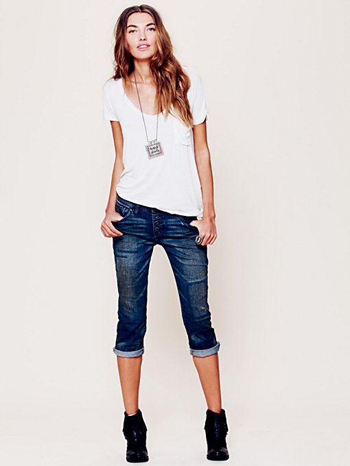 Free People Utility Vintage Crop in Jeans