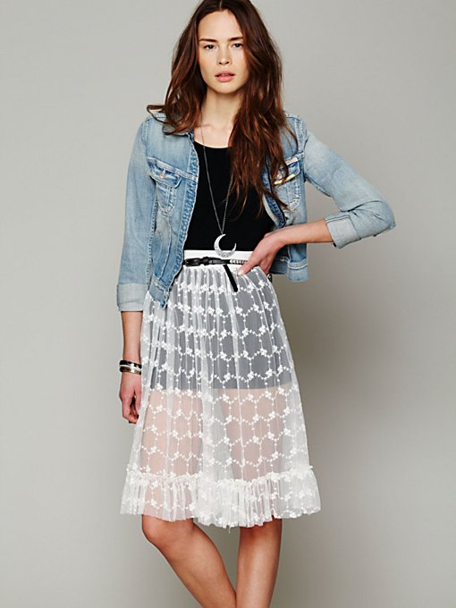 Lace Connections Skirt in clothes-layering