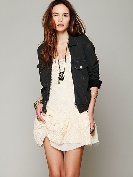 Free People Knit Bomber Jacket in Jackets