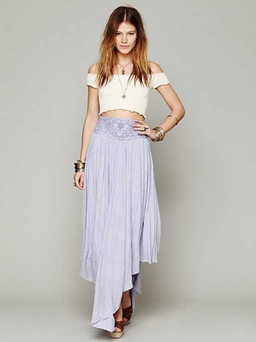 Free People FP X Rhiannon Skirt in black-maxi-dresses