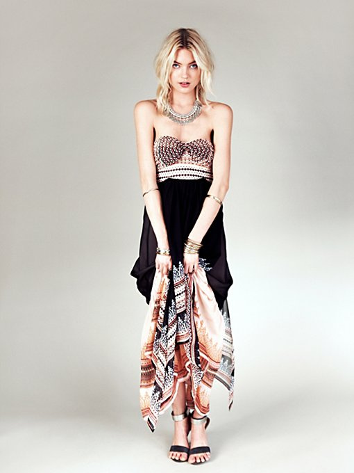 Free People Indian Enchantment Maxi in strapless-maxi-dresses