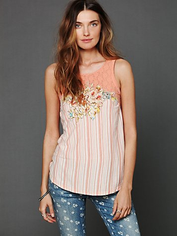 Free People Eclectic Juxtaposition Tunic