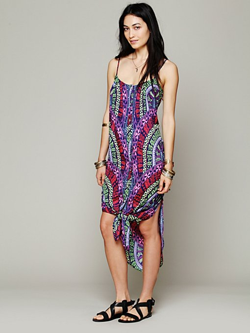 Medicine Wheel Print Easy Dress in clothes-dresses