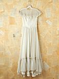 Vintage White Ruffled Maxi Dress
