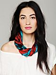 Crinkled Silk Loop Scarf