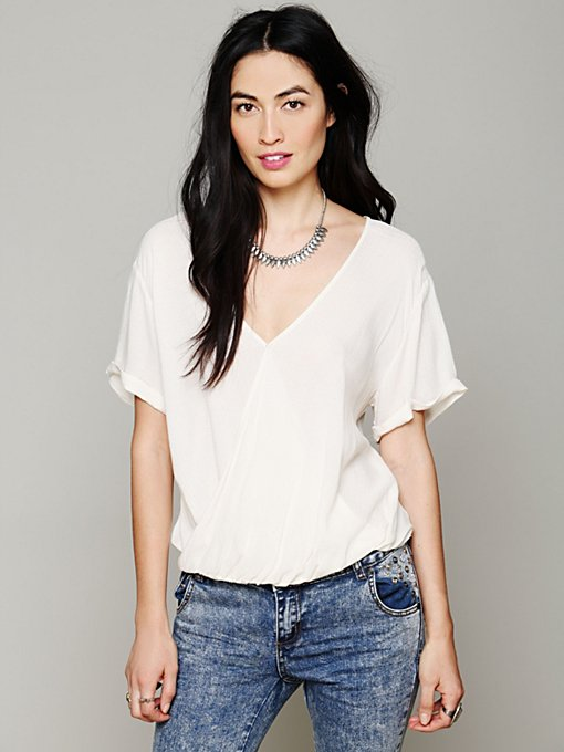 Solid Wrap Top in sale-sale-under-70