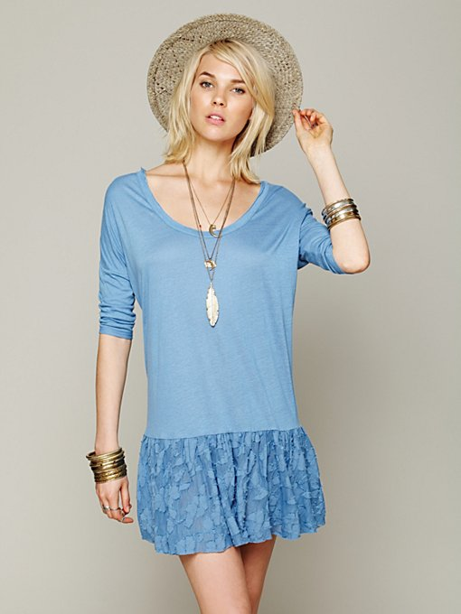 Free People Shifty Shift Tunic in knit-tops