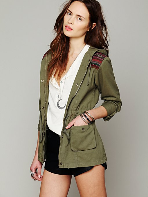 Jen's Pirate Booty Green Parka in lightweight-jackets