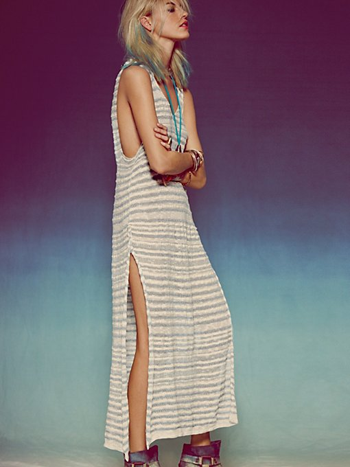 Free People Water's Edge Hooded Pullover in white-maxi-dresses