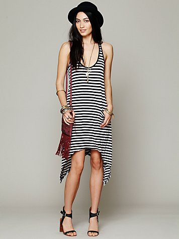 291 From Venice Curved Hem Stripe Tunic