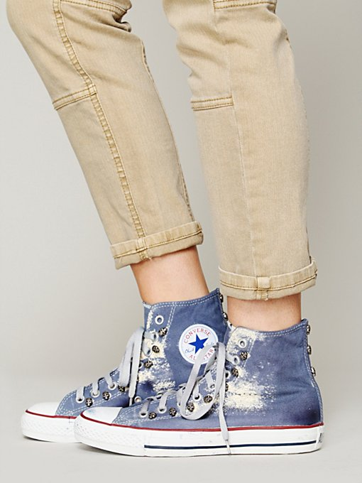 Converse Skull Studded High Tops in Sneakers