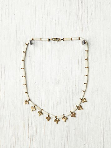 Vanessa Mooney Tender Kiss Charm Necklace