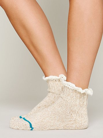 Free People Short Heathered Highland Boot Sock