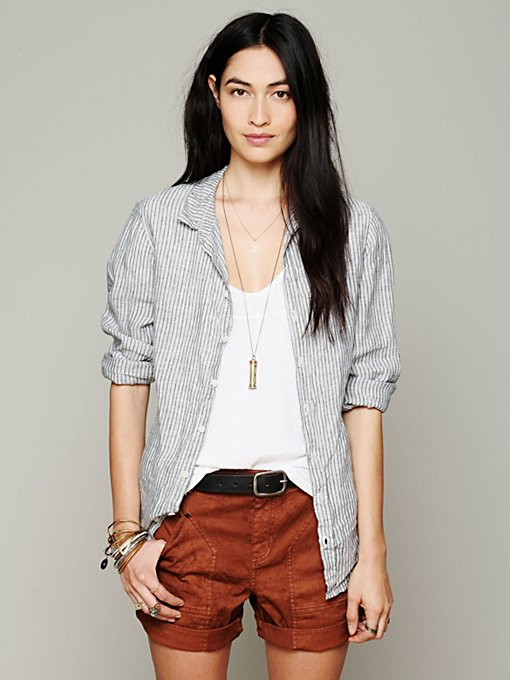 Free People Boyfriend Carpenter Short in Jean-Shorts