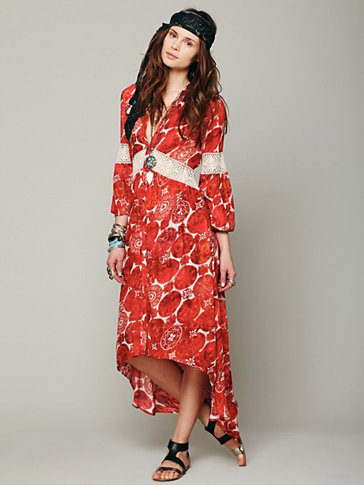 Printed Maxi Tunic  in shop-by-shape